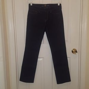 7 For All Mankind dark jeans